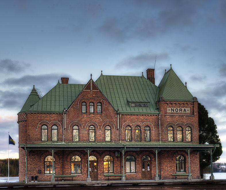 Nora Järnvägsstationen